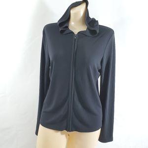 Gap Fit Stretchy Full Zip Women's Black Hoodie M